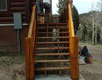 Log Deck Railing Building