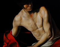 John the Baptist afar Caravaggio