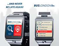 2014: London Bus Live - Samsung Gear 2 app UI