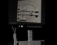 """props  fan art Gears of war """"15 jours """""""