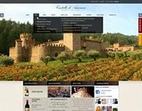 Castello di Amorosa - web design