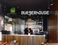 Burgerhouse logo and graphics