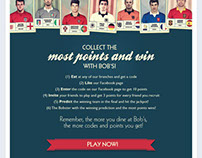 Bob's Diner Eurocup Facebook Tab