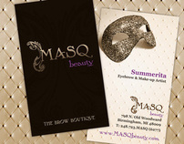 MASQ Beauty The Brow Boutique Artist Business Card