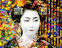 Geisha Art Wallpaper
