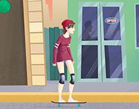 Skater animation