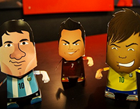 Papercraft Soccer Headz