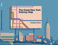 Emiliano Ponzi // NYC Subway Map