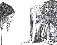 Mulheres em nanquim