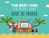 The Best Jobs For People Who Love To Travel Infographic