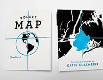 Brooklyn Letter-pressed Pocket Map