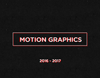 Motion Graphic 2016 - 2017