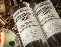 Wheadon's Gin Label Design