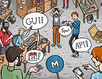 Programmers' strife illustration