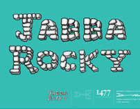 Jabba Rocky Typeface Design