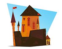 little cartoon castle