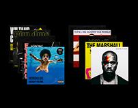 RAP 'N' ROLL — ALBUM COVERS
