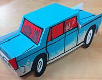 1500 paperkraft car