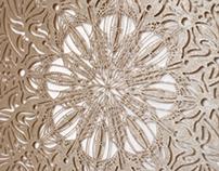 Laser Cut Lace Wedding Invitation