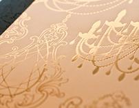 Foil and Laser Cut Chandelier Wedding Invitations