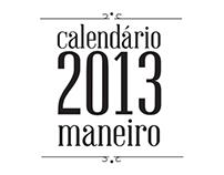 Calendário Maneiro 2013.