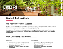 Website for DRI: DeckAndRailInstitute.com