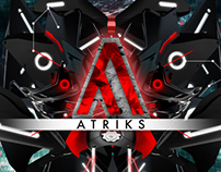DJ Atriks Branding Desktop Background