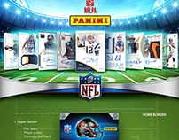 Panini Digital Trading Card App Design
