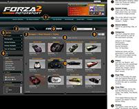 Forza Motorsport 2 Community Website UX