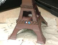 Construction - Tour Eiffel en carton   2015