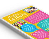 Flyer Clube de Leitura