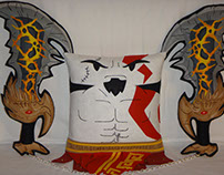 Handmade God of War Kratos v1.43 w/ Chaos Blades Pillow