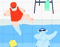 A long swimming pool