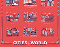 Cities of the world - Great Little Place poster