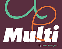MULTI™, an expressive sans serif typeface family