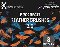 Procreate Feather Brushes 2.0
