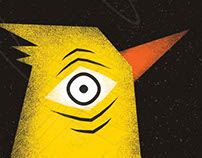 Illustration yellow bird