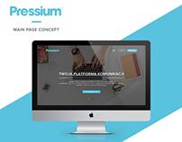PRESSIUM - main page concept