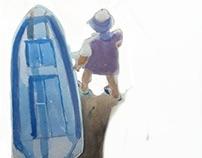 Sea, boats, fishermen