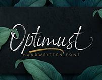 Optimust | Handwritten Brush Font