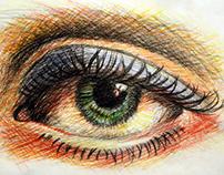 Facial feature drawings