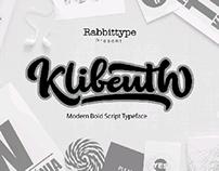 Klibeuth Script typeface