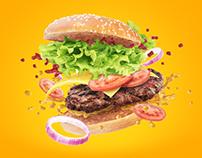 Juicy hamburger + WIP