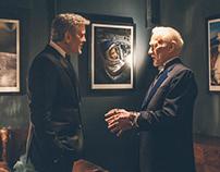 Starmen: George Clooney meets astronaut Buzz Aldrin