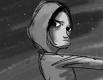 "Storyboard for animated short film ""Running Lights"""