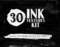 Black & white Watercolor Textures