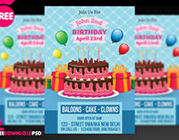 Birthday Party Invitation Flyer Template + Social Media