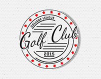 Golf vector set badges and logos