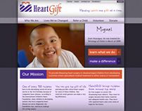 Web Design - HeartGift (2012)