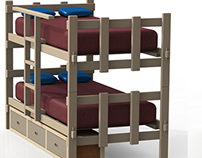 2 x 4 Peg Bunk Bed
